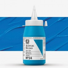 Vallejo : Studio Acrylic Paint : 500ml : Primary Blue