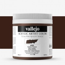 Vallejo : Artist Acrylic Paint : 500ml Pot : Burnt Umber