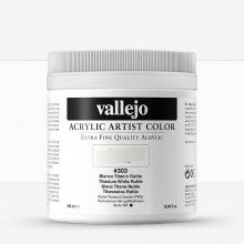 Vallejo : Artist Acrylic Paint : 500ml Pot : Titanium White Rutile