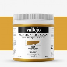Vallejo : Artist Acrylic Paint : 500ml Pot : Mars Yellow