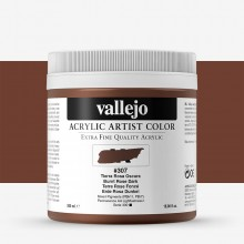 Vallejo : Artist Acrylic Paint : 500ml Pot : Burnt Rose Dark