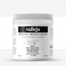 Vallejo : Artist Acrylic Paint : 500ml Pot : Titanium White Anastase