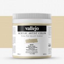 Vallejo : Artist Acrylic Paint : 500ml Pot : Unbleached Titanium