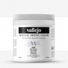 Vallejo : Artist Acrylic Paint : 500ml : Zinc White