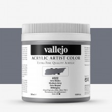 Vallejo : Artist Acrylic : 500ml : Medium Grey
