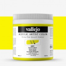 Vallejo : Artist Acrylic Paint : 500ml Pot : Hansa Yellow