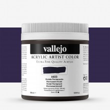 Vallejo : Artist Acrylic Paint : 500ml Pot : Permanent Violet