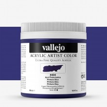 Vallejo : Artist Acrylic Paint : 500ml Pot : Phthalo Blue