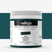 Vallejo : Artist Acrylic Paint : 500ml Pot : Phthalo Green