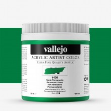 Vallejo : Artist Acrylic Paint : 500ml Pot : Permanent Green