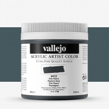 Vallejo : Artist Acrylic Paint : 500ml Pot : Paynes Grey