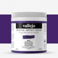 Vallejo : Artist Acrylic Paint : 500ml Pot : Ultramarine Violet
