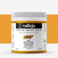 Vallejo : Artist Acrylic Paint : 500ml Pot : Transparent Orange