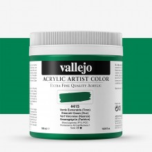 Vallejo : Artist Acrylic Paint : 500ml Pot : Emerald Green