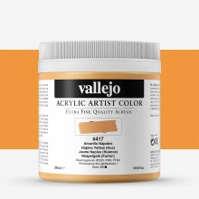 Vallejo : Artist Acrylic Paint : 500ml Pot : Naples Yellow (Hue)