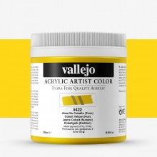 Vallejo : Artist Acrylic Paint : 500ml Pot : Cobalt Yellow (Hue)