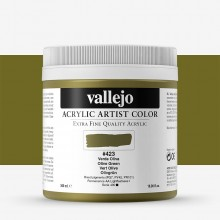 Vallejo : Artist Acrylic Paint : 500ml Pot : Olive Green