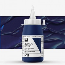 VALLEJO : STUDIO ACRYLIC PAINT : 500ML : PHTHALO BLUE