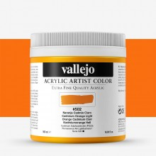 Vallejo : Artist Acrylic Paint : 500ml Pot : Cadmium Orange Light