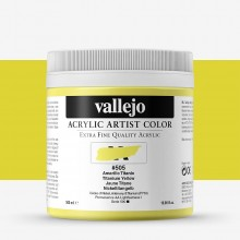 Vallejo : Artist Acrylic Paint : 500ml : Titanium Yellow