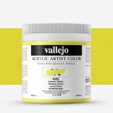 Vallejo : Artist Acrylic Paint : 500ml : Titanium Yellow