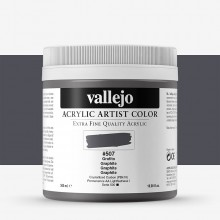 Vallejo : Artist Acrylic Paint : 500ml Pot : Graphite