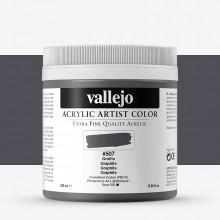 Vallejo : Artist Acrylic Paint : 500ml Pot : Graphite