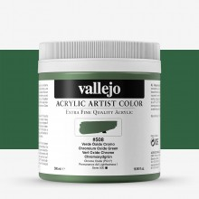 Vallejo : Artist Acrylic Paint : 500ml Pot : Chromium Oxide Green