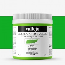Vallejo : Artist Acrylic Paint : 500ml Pot : Cadmium Green