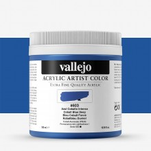 Vallejo : Artist Acrylic Paint : 500ml Pot : Cobalt Blue Deep