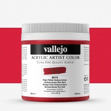 Vallejo : Artist Acrylic Paint : 500ml Pot : Quinacridone Pale Red