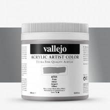 Vallejo : Artist Acrylic Paint : 500ml Pot : Silver