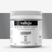 Vallejo : Artist Acrylic Paint : 500ml Pot : Silver