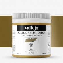 Vallejo : Artist Acrylic Paint : 500ml Pot : Gold (Iridescent)
