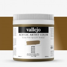 Vallejo : Artist Acrylic Paint : 500ml Pot : Bronze (Iridescent)