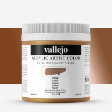 Vallejo : Artist Acrylic Paint : 500ml Pot : Copper