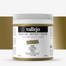 Vallejo : Artist Acrylic Paint : 500ml Pot : Antique Gold