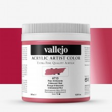 Vallejo : Artist Acrylic Paint : 500ml : Pot : Iridescent Red