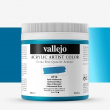 Vallejo : Artist Acrylic Paint : 500ml : Pot : Iridescent Blue