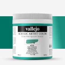 Vallejo : Artist Acrylic Paint : 500ml Pot : Iridescent Green