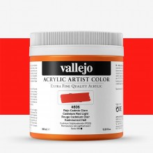 Vallejo : Artist Acrylic Paint : 500ml Pot : Cadmium Red Light
