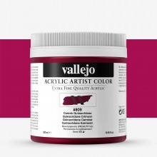 Vallejo : Artist Acrylic Paint : 500ml Pot : Quinacridone Crimson