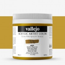 Vallejo : Artist Acrylic Paint : 500ml Pot : Nickel Azo Yellow