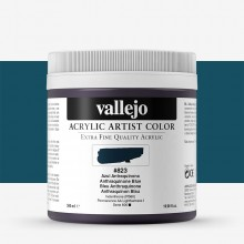 Vallejo : Artist Acrylic Paint : 500ml Pot : Anthraquinone Blue