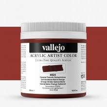 Vallejo : Artist Acrylic Paint : 500ml Pot : Quinacridone Burnt Orange