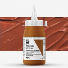 Vallejo : Studio Acrylic Paint : 500ml : Mars Orange