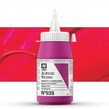 Vallejo : Studio Acrylic Paint : 500ml Pot : Magenta Fluorescent