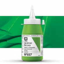 Vallejo : Studio Acrylic Paint : 500ml Pot : Green Fluorescent