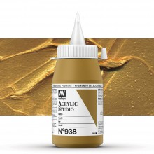 Vallejo : Studio Acrylic Paint : 500ml Pot : Gold