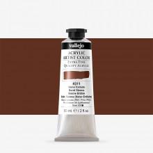 Vallejo : Artist Acrylic Paint : 60ml : Burnt Sienna